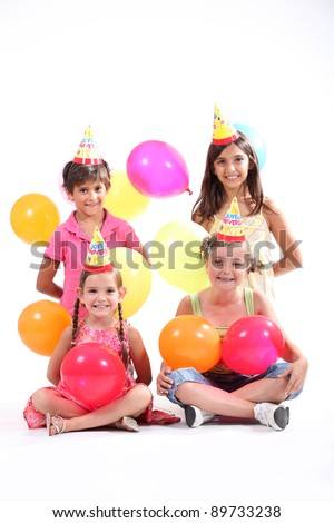 Kids at a birthday party