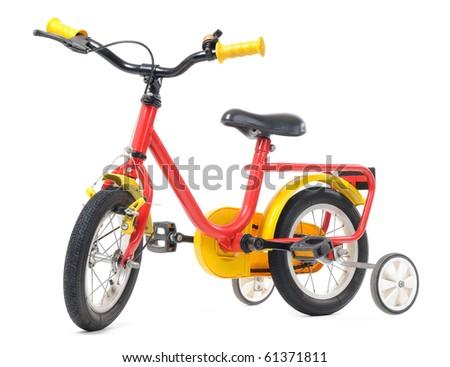 Kids bicycle isolated on white background - stock photo