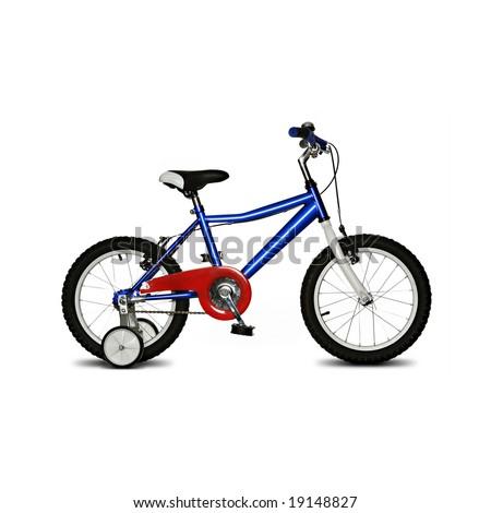 kids bike isolated on white background - stock photo