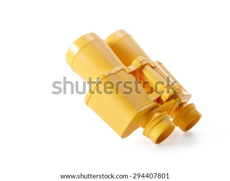 Kids Binoculars Isolated on White Background   - stock photo