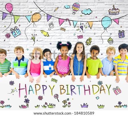 Kids Birthday Party - stock photo