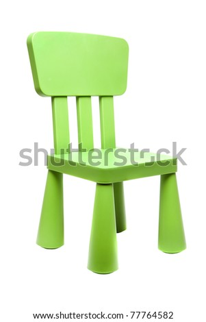 Kids chair isolated - stock photo