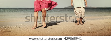 Kids Child Children Cheerful Sibling Sister Brother Concept - stock photo