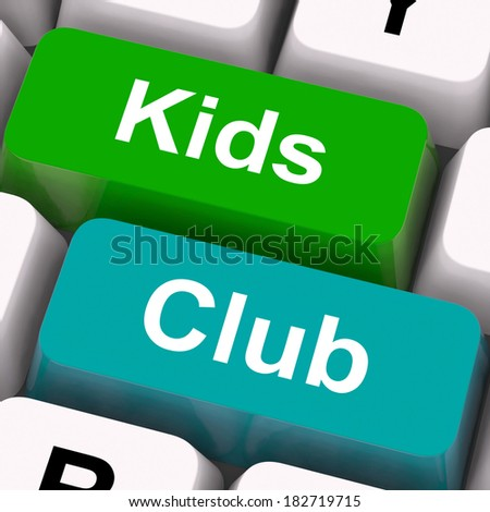 Kids Club Keys Meaning Childrens Playing And Entertainment