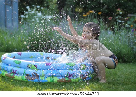 Kids having fun - stock photo