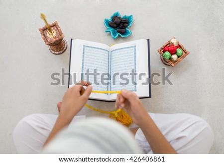 kids in ramadan  - stock photo