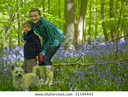 Kids in the Bluebells