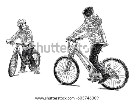Kids Bicycle Stock Images Royalty Free Images Vectors