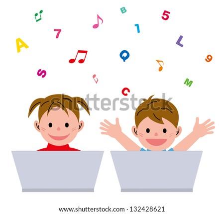 Kids? personal computer - stock photo