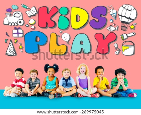 Kids Play Imagination Hobbies Leisure Games Concept - stock photo