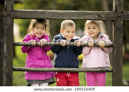 Kids playing at playground - stock photo