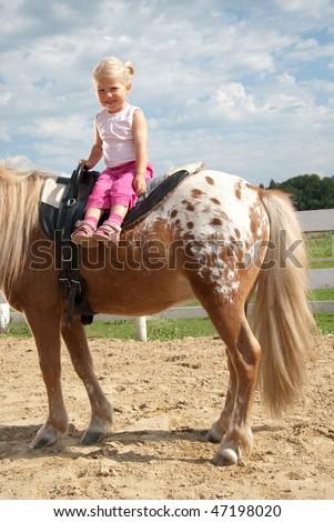 kids riding - stock photo