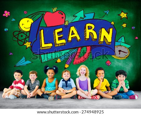 Kids School Education Learn Wisdom Young Concept - stock photo