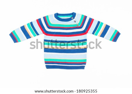 Kids striped sweater - stock photo