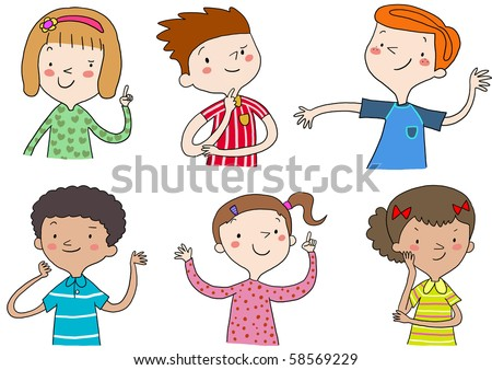 Stock Images similar to ID 61327765 - boy and girl. funny ...