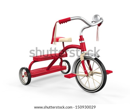 Kids Tricycle Isolated - stock photo