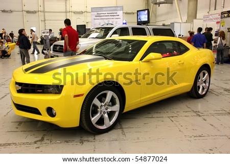 "KIEV - MAY 27: Annual automotive-show ""SIA 2010"". May 27, 2010 in Kiev, Ukraine. Chevrolet Camaro - stock photo"
