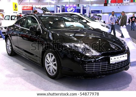 "KIEV - MAY 27: Annual automotive-show ""SIA 2010"". May 27, 2010 in Kiev, Ukraine. Renault Laguna - stock photo"