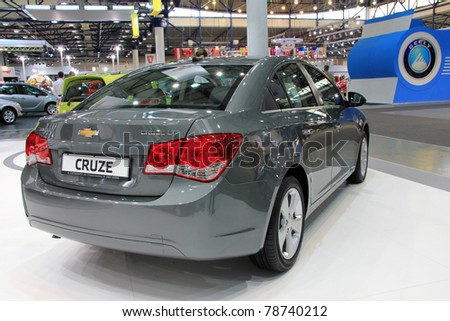 """KIEV - MAY 26: Chevrolet Cruse LT at yearly automotive-show """"SIA 2011"""". May 26, 2011 in Kiev, Ukraine. - stock photo"""