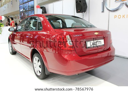"""KIEV - MAY 26: Chevrolet Lacetti at yearly automotive-show """"SIA 2011"""". May 26, 2011 in Kiev, Ukraine. - stock photo"""