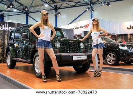 "KIEV - MAY 26: Jeep Wrangler at yearly automotive-show ""SIA 2011"". May 26, 2011 in Kiev, Ukraine."