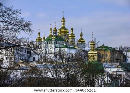 Kiev Pechersk Lavra Monastery church, Ukraine. - stock photo