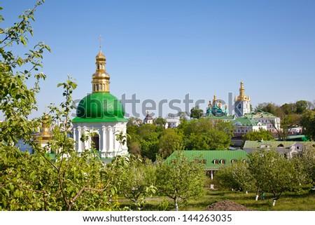 Kiev Pechersk Lavra monastery in Kiev - stock photo