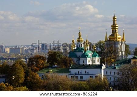Kiev-Pechersk Lavra (monastery) in Kiev, Ukraine - stock photo