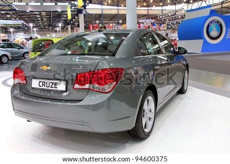 "KIEV - SEPTEMBER 10: Chevrolet Cruse at yearly automotive-show ""Capital auto show 2011"". September 10, 2011 in Kiev, Ukraine. - stock photo"