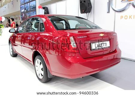 "KIEV - SEPTEMBER 10: Chevrolet Lacetti at yearly automotive-show ""Capital auto show 2011"". September 10, 2011 in Kiev, Ukraine. - stock photo"