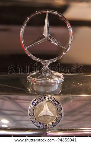 "KIEV - SEPTEMBER 10: Mercedes-Benz at yearly automotive-show ""Capital auto show 2011"". September 10, 2011 in Kiev, Ukraine. - stock photo"