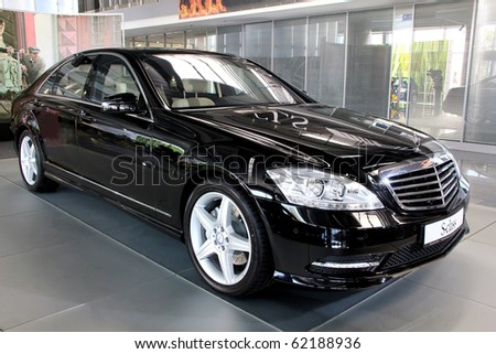 "KIEV - SEPTEMBER 10: Mercedes-Benz S-class at yearly automotive-show ""Capital auto show 2010"". September 10, 2010 in Kiev, Ukraine. - stock photo"