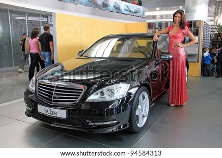 "KIEV - SEPTEMBER 10: Mercedes-Benz S-class at yearly automotive-show ""Capital auto show 2011"". September 10, 2011 in Kiev, Ukraine. - stock photo"