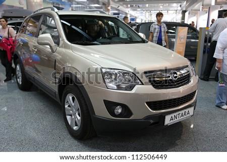 "KIEV - SEPTEMBER 7: Opel Antara at yearly automotive-show ""Capital auto show 2012"". September 7, 2012 in Kiev, Ukraine - stock photo"