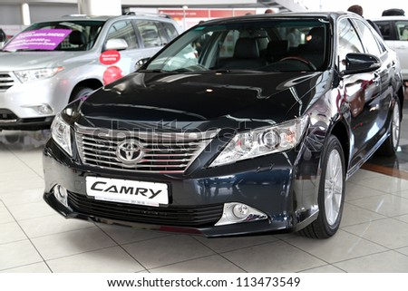 "KIEV - SEPTEMBER 7: Toyota Camry at yearly automotive-show ""Capital auto show 2012"". September 7, 2012 in Kiev, Ukraine"
