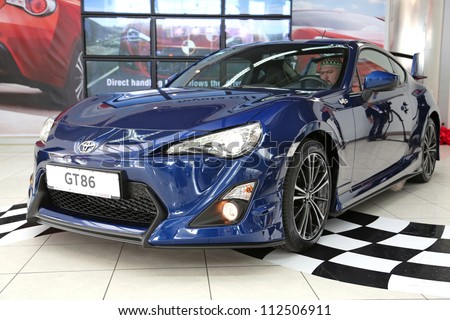 "KIEV - SEPTEMBER 7: Toyota GT 86 at yearly automotive-show ""Capital auto show 2012"". September 7, 2012 in Kiev, Ukraine"