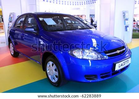 "KIEV - SEPTEMBER 10: Yearly automotive-show ""Capital auto show 2010"". September 10, 2010 in Kiev, Ukraine. Chevrolet Lacetti - stock photo"