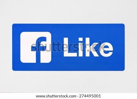 KIEV, UKRAINE - APRIL 29, 2015:  Icons  popular social  networking applications. - stock photo