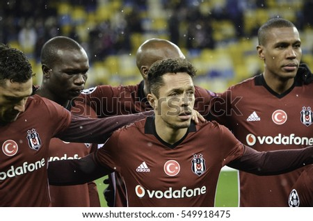 KIEV, UKRAINE - DEC 06: Adriano Correia Claro during the UEFA Champions League match between Dynamo Kiev vs Besiktas (Istanbul, Turkey), Kiev, Ukraine