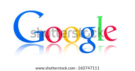 KIEV, UKRAINE - MARCH 08, 2015: Google logo printed on paper and placed on white background. Google is one of the most popular search engines. - stock photo