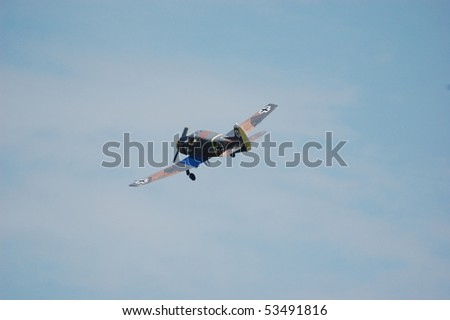 KIEV, UKRAINE - MAY 10 : German military airplane (imitation) during historical reenactment of 1945 WWII, May 10, 2010 in Kiev, Ukraine.