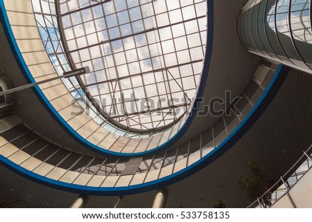 KIEV, UKRAINE - MAY 16, 2016: Interior South Railway Station in Kiev, Ukraine.