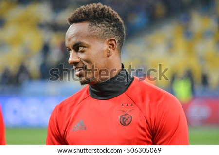 Kiev, UKRAINE - OCT 19, 2016: Andre Carrillo during the UEFA Champions League match between Dynamo Kiev vs SL Benfica (Portugal), NSC Olympic stadium, 19  October 2016, Ukraine