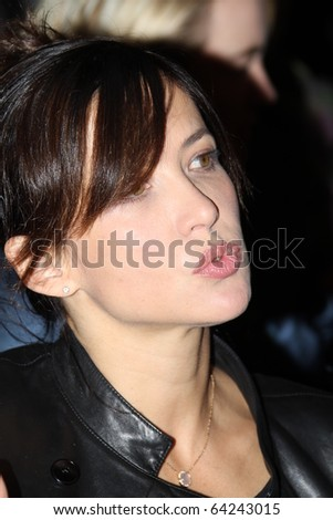 """KIEV, UKRAINE - SEPTEMBER   23: Sophie Marceau arrives at the opening , at the Opera Theatre  40th  Film Festival """"Molodist"""" on September 23, 2010 in Kiev, Ukraine - stock photo"""