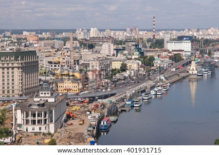 Kiev, view on the city center