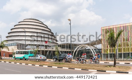 Kigali - June 15: The newly built Kigali Convention Centre is getting ready to host the 27th African Union Summit as its very first meeting. June 15, 2016 Kigali, Rwanda