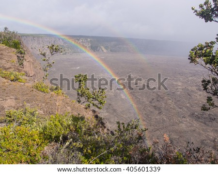 Kilauea is a currently active shield volcano in the Hawaiian Islands, and the most active of the five volcanoes that together form the island of Hawaii. - stock photo