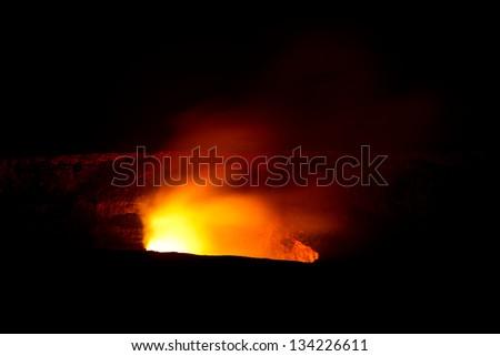 Kilauea Volcano in Hawaii - stock photo
