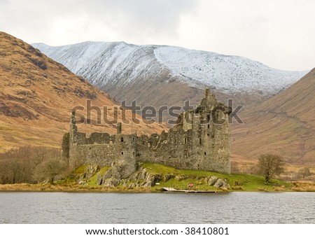 Kilchurn Castle, Loch Awe, Scotland - stock photo