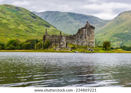 Kilchurn Castle, 15th century tower house, Argyll and Bute, Scotland - stock photo